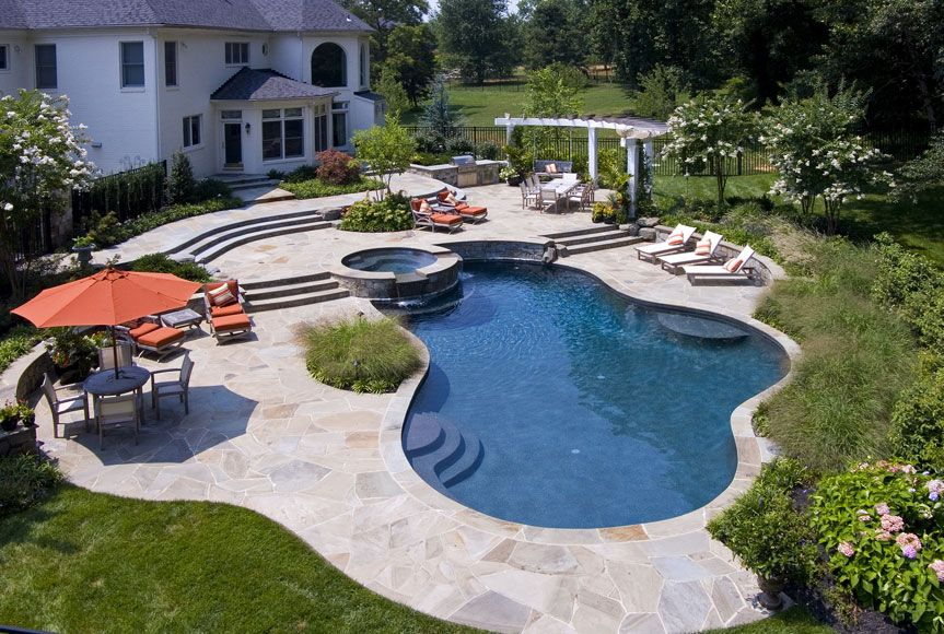 Ellicott City Landscape Design Custom Swimming Pool Md Landscape