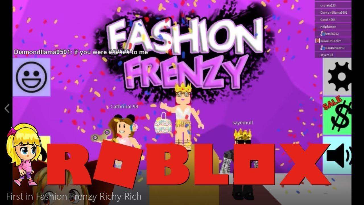 First In Fashion Frenzy Richy Rich Roblox Roblox Fashion