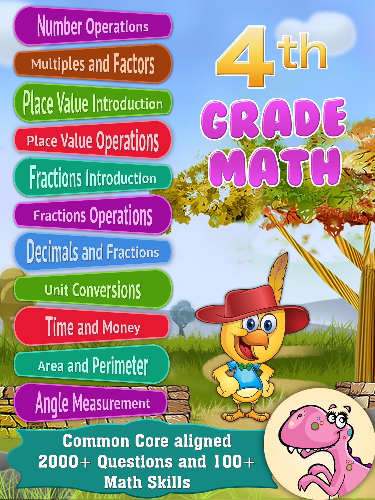 Amazing app for 4th Grade math. Best math apps