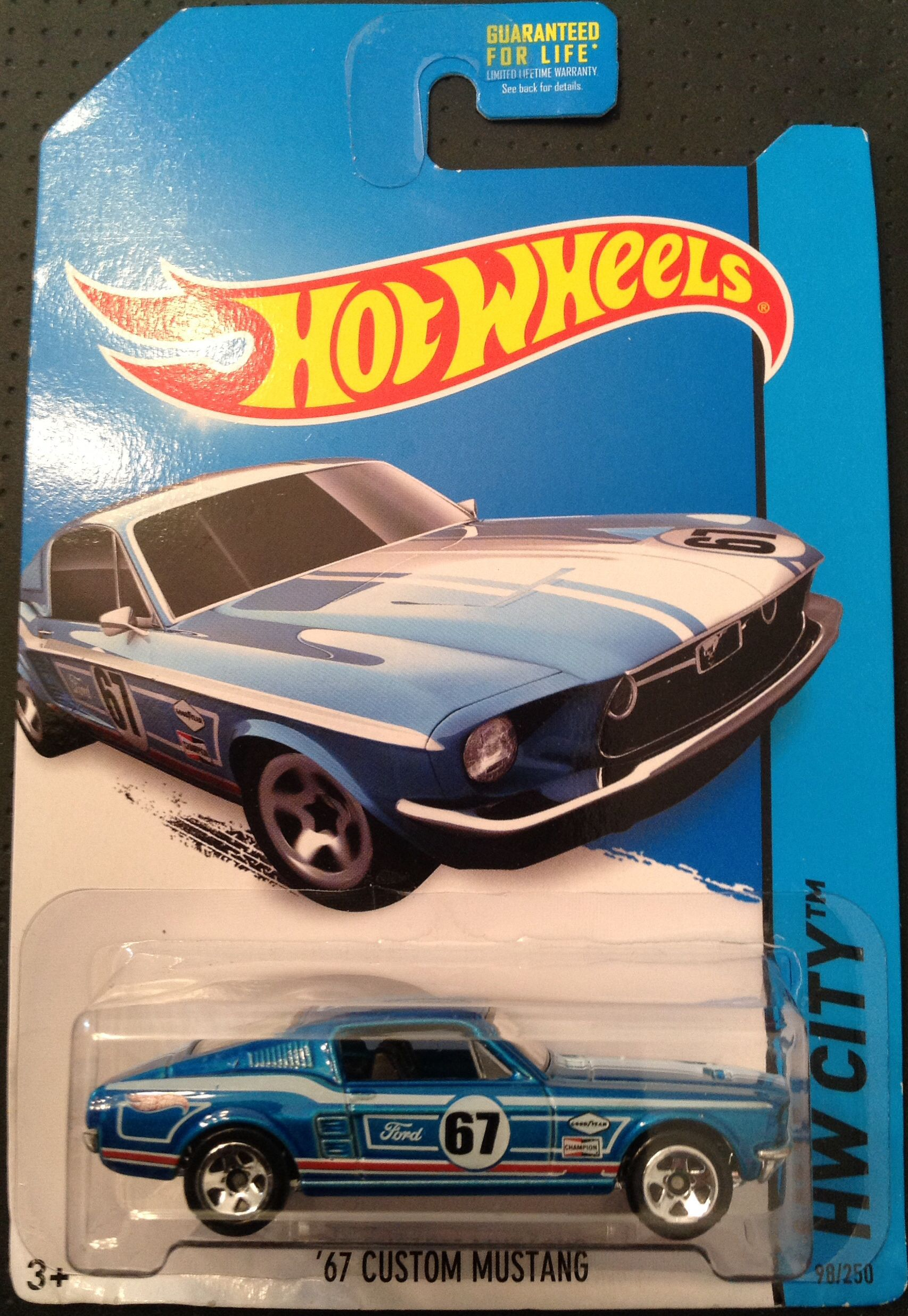 Hot Wheels 2014 Mustang 50th Hw City 98 250 67 Custom Mustang