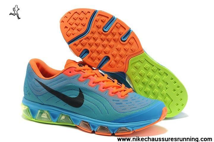 100% authentic 78dfb c74f9 Pas cher Nike Air Max Tailwind 6 Hommes Chaussures Sky Bleu Orange Noir