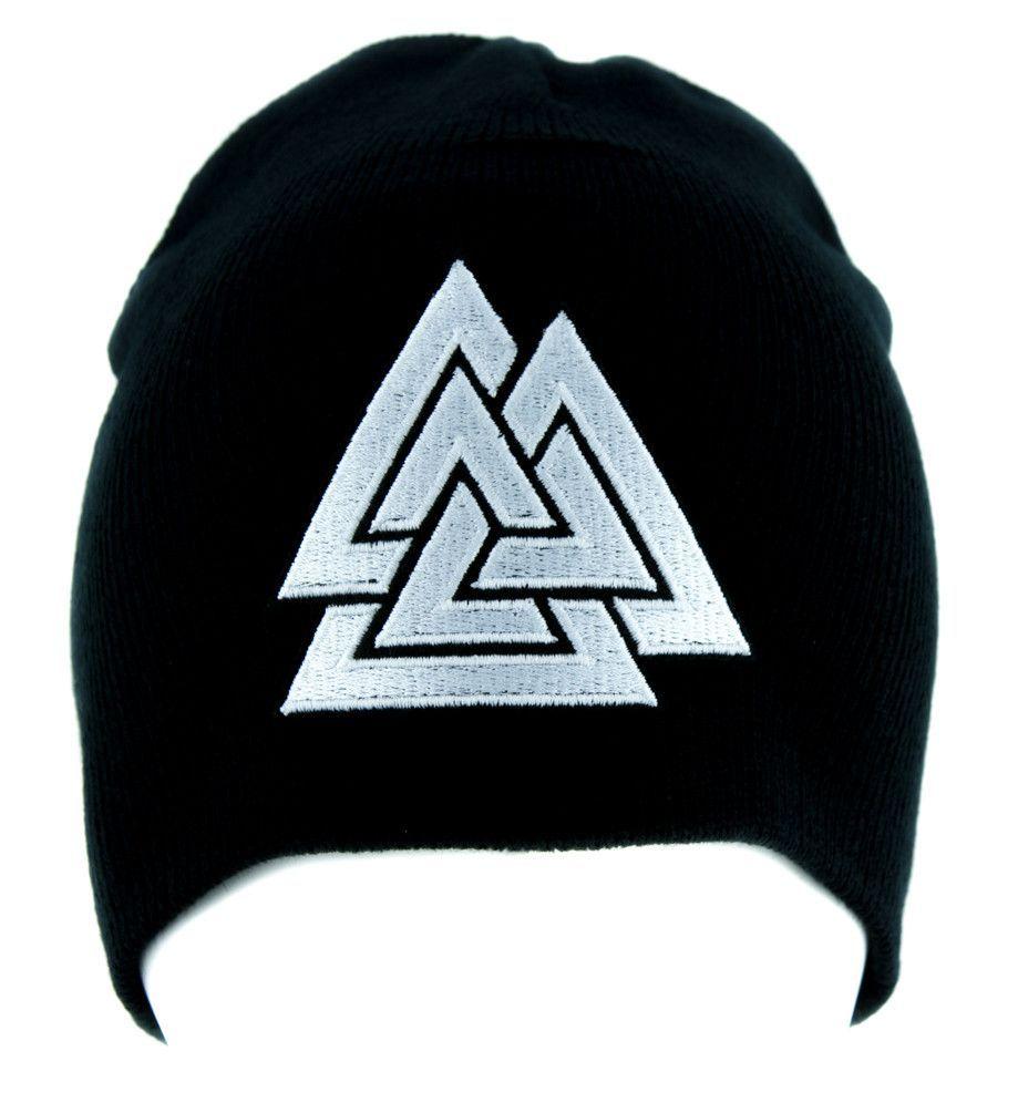 Triangles valknut odin viking symbol beanie alternative clothing triangles valknut odin viking symbol beanie alternative clothing knit cap norse biocorpaavc