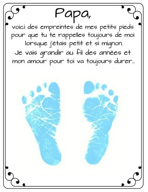 Photo of Poem and footprint for dad