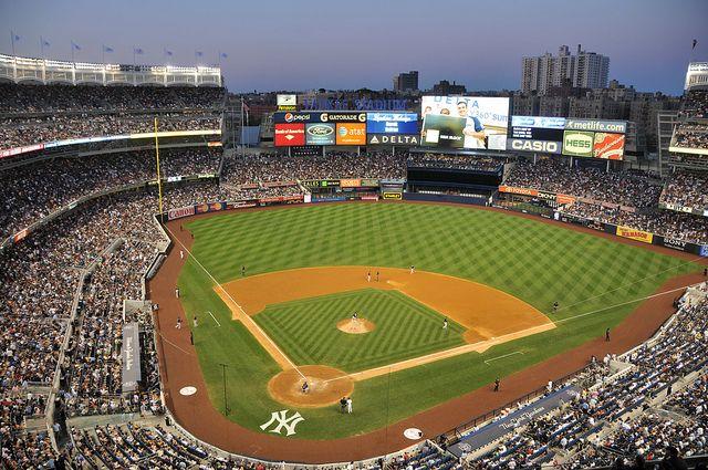 New York Yankee Stadium At Night New York Yankees Stadium Yankee Stadium New York Yankees