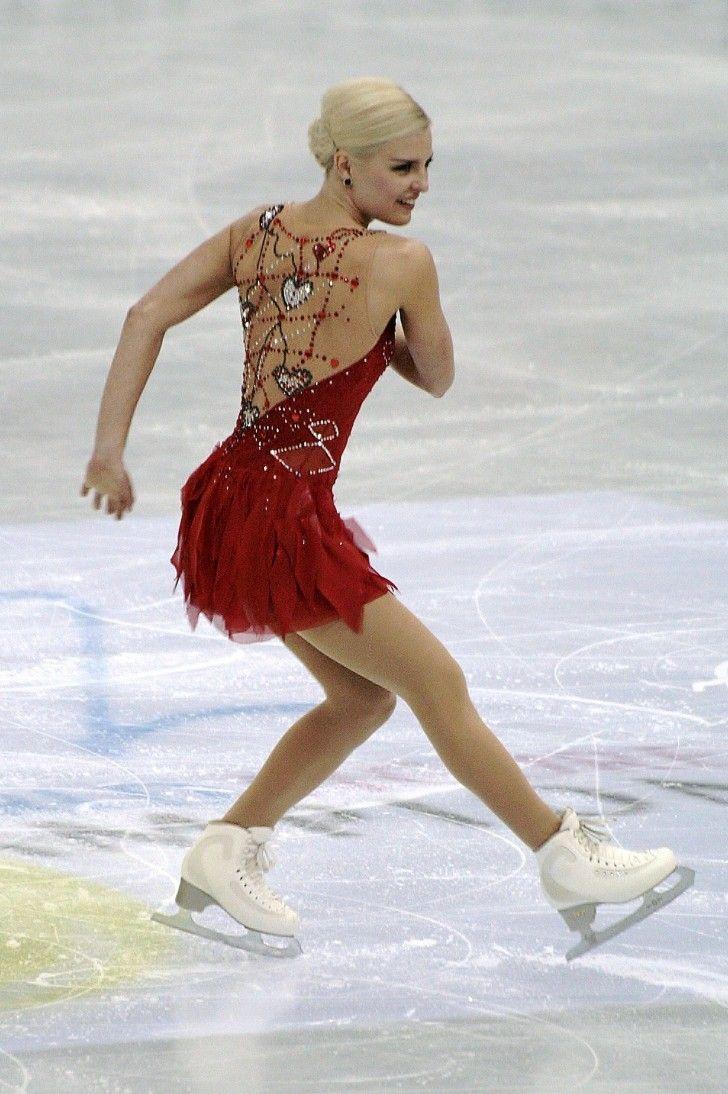 red figure skating dresses   ... figure skater viktoria helgesson wearing a red skating dress with