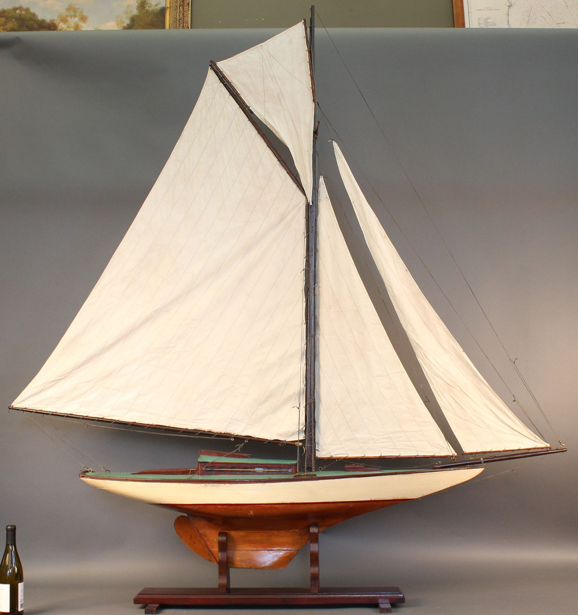 Gaff Rigged Pond Yacht of a Sloop | model yachts in 2019