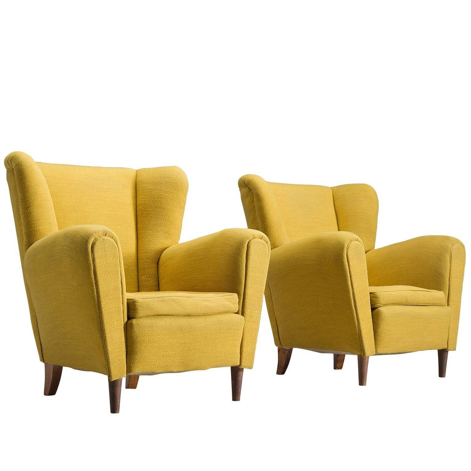 Best Italian Bright Yellow Lounge Chairs 1950S Lounge Chair 400 x 300
