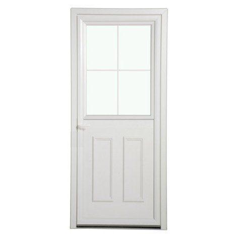 Porte du0027entrée pvc Fermière poussant droit, H215 x l90 cm Idées - poser porte d entree