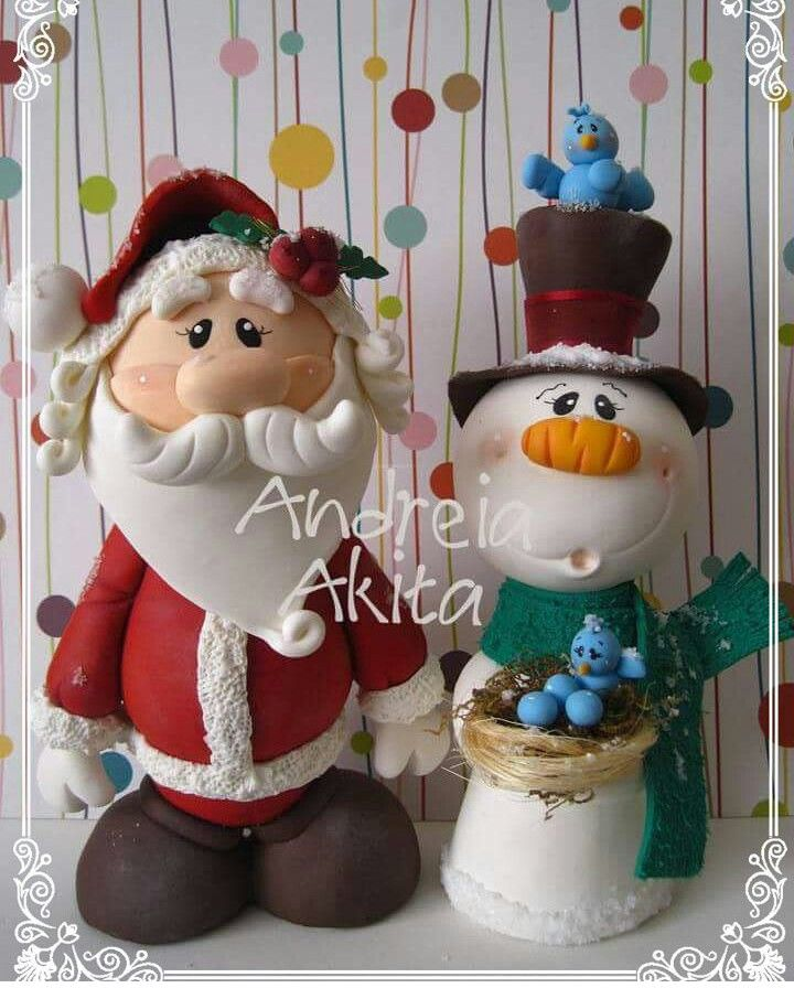 Figuras De Navidad Navidad De Arcilla Polimérica Arcilla De Navidad Manualidades