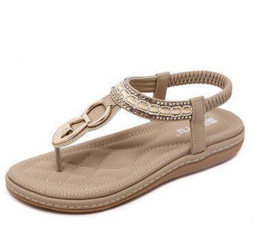 FREE SHIPPING Women's Rhinestone Bohemian Ankle Strap Sandals