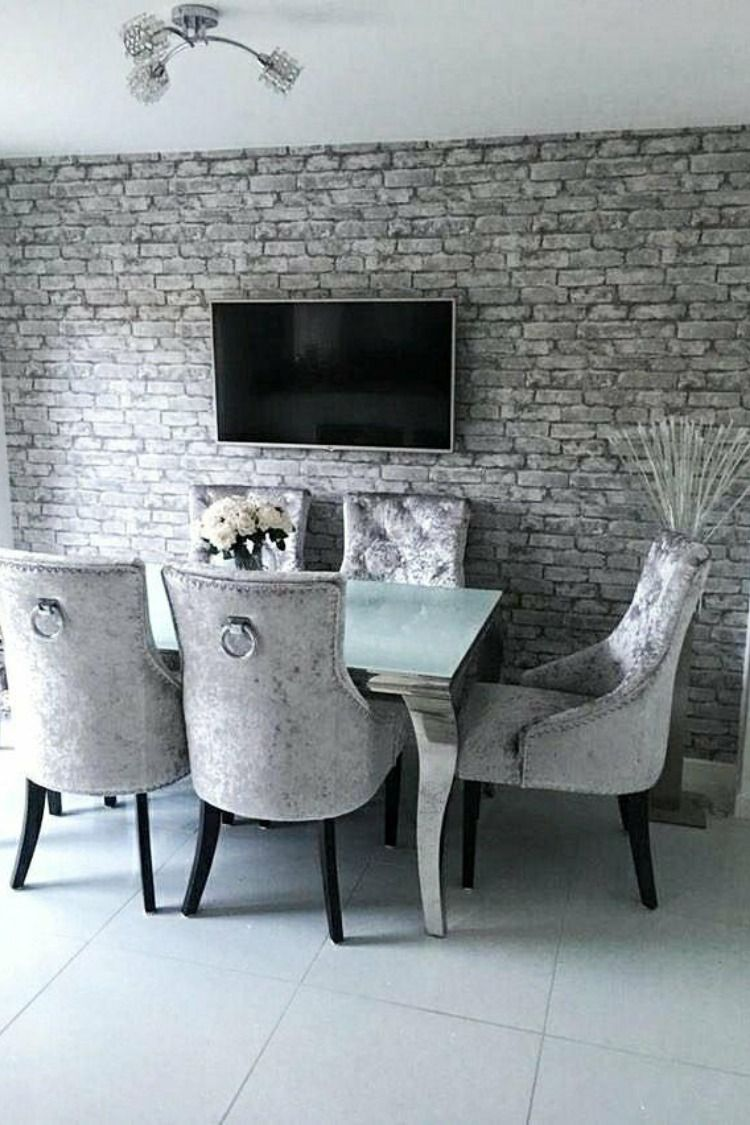 Rustic Brick Wallpaper Silver Grey With Images Brick Wallpaper