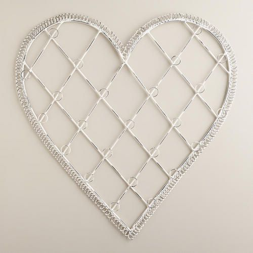 One of my favorite discoveries at WorldMarket.com: Whitewash Heart Cardholder -- this would be perfect for a gallery wall. Just add pictures!