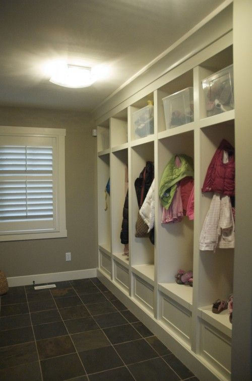 built-in storage lockers