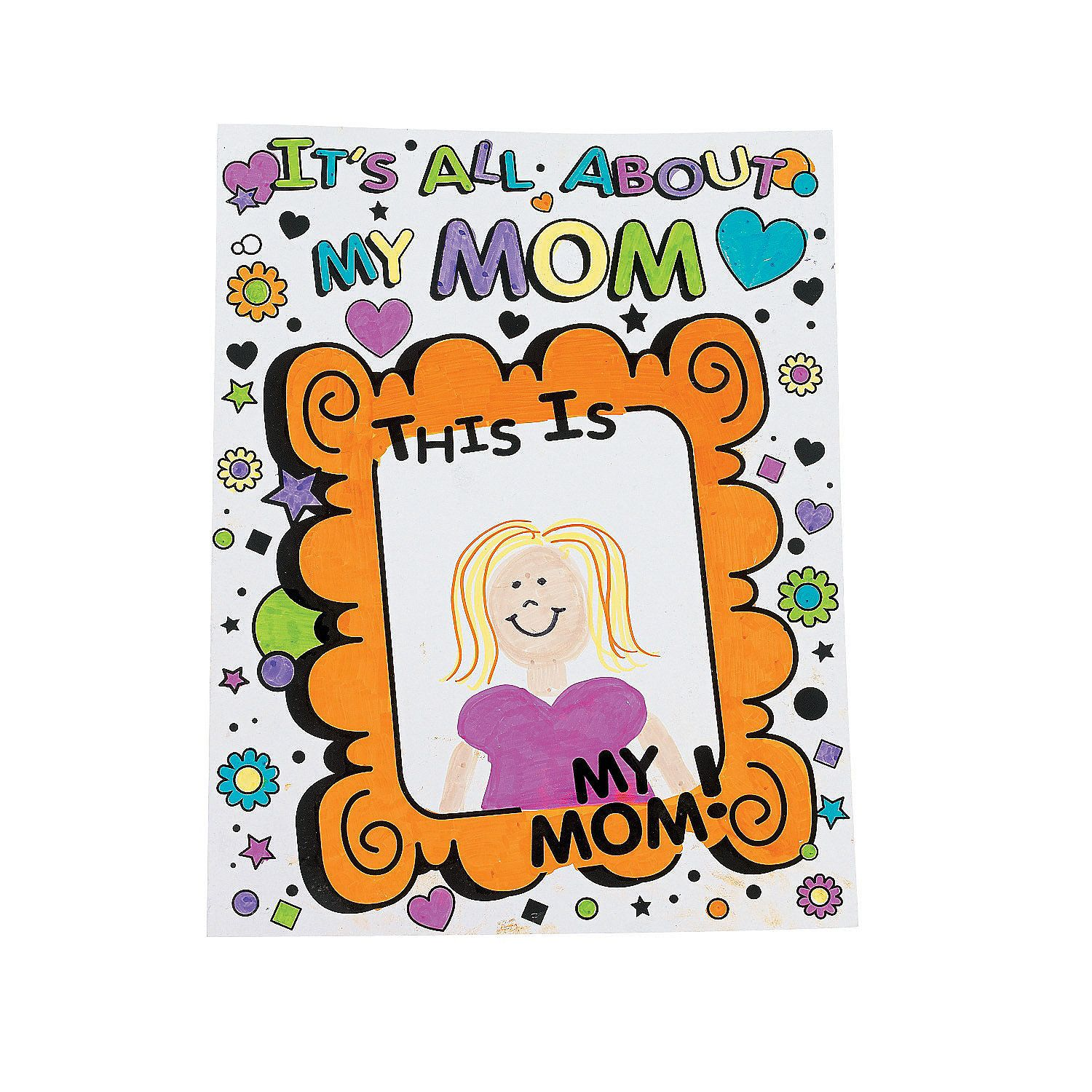 Color your own its all about my mom giant mothers day