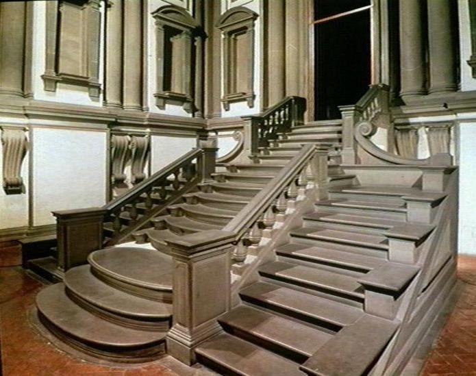 Escalinata de la biblioteca laurenciana de miguel ngel - Arquitectura miguel angel ...