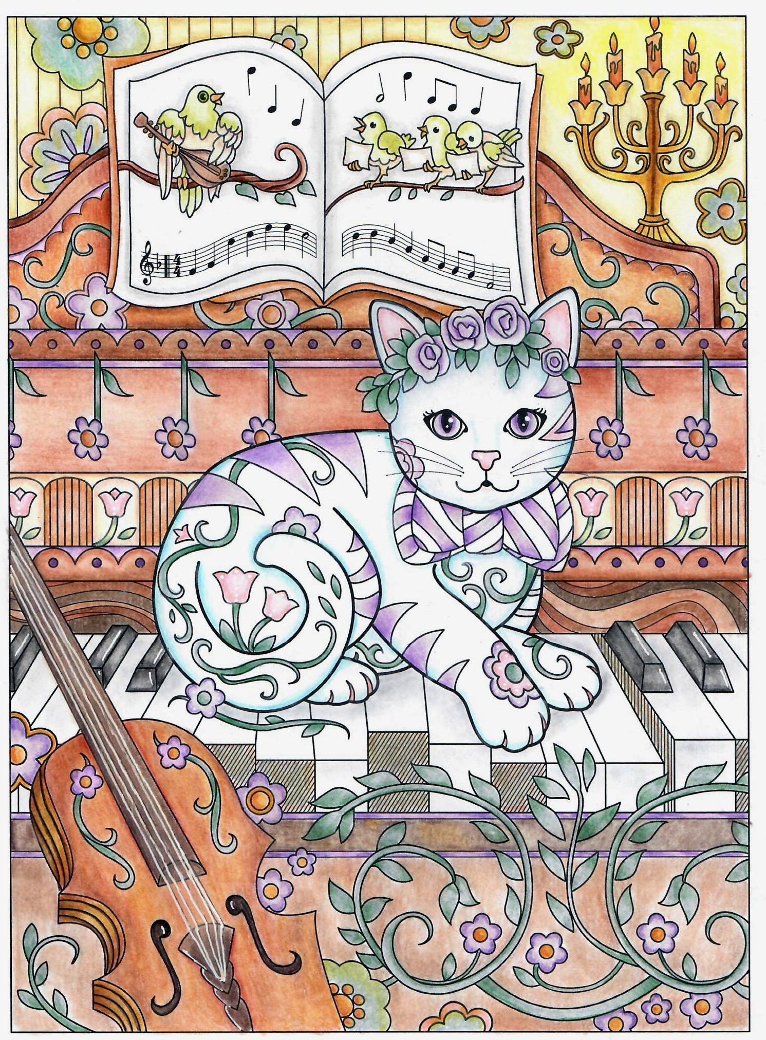 From marjorie sarnats book creative kittens kitty on piano cat art