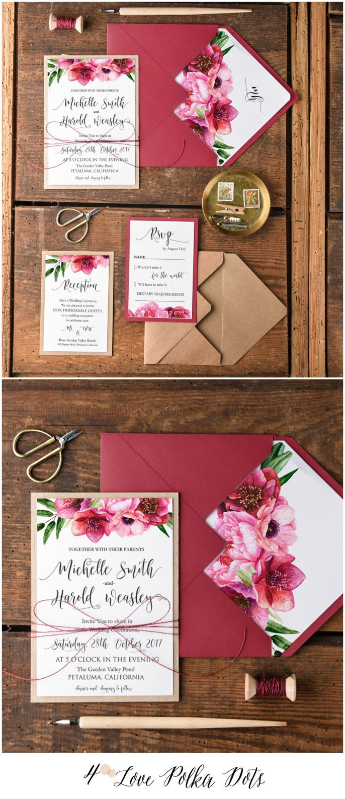WEDDING INVITATIONS watercolor | Wedding Invitation | Pinterest ...