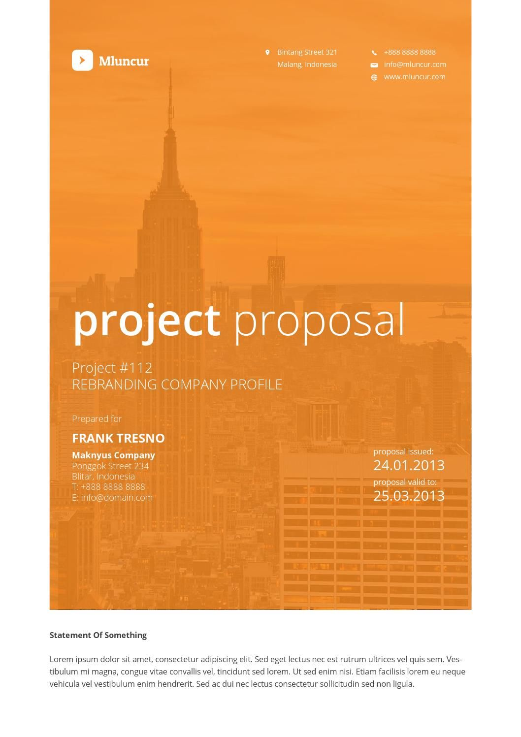 Mluncur Clean Proposal Template Professional Word Template