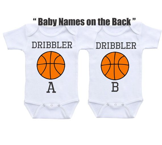 Personalized twin onesies twin baby gifts basketball sports twin personalized twin onesies twin baby gifts basketball sports twin outfit matching twin outfits set twin baby clothes twin babyshower gift negle Choice Image