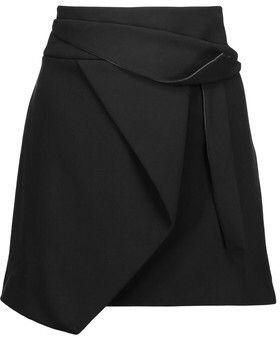 Sequin Mini Skirts, Sequined Skirt, Black Mini Skirts, Draped Skirt, Short  Skirts, Wrap Around Skirt, Multi Coloured Skirts, Wrap Skirts, Halston  Heritage