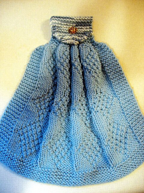 Here's a picture of the kitchen towel | Dishcloth knitting ...