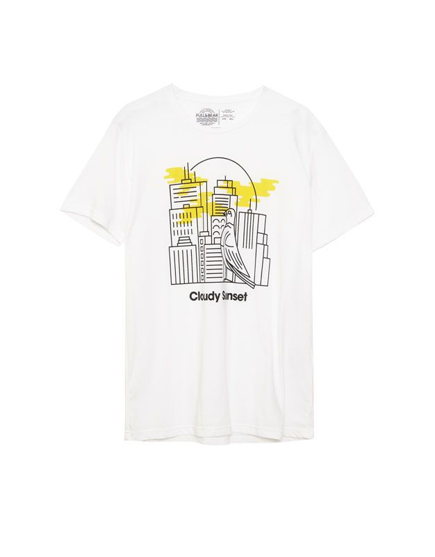 Camiseta print edificios - Camisetas - Ropa - Hombre - PULL&BEAR España