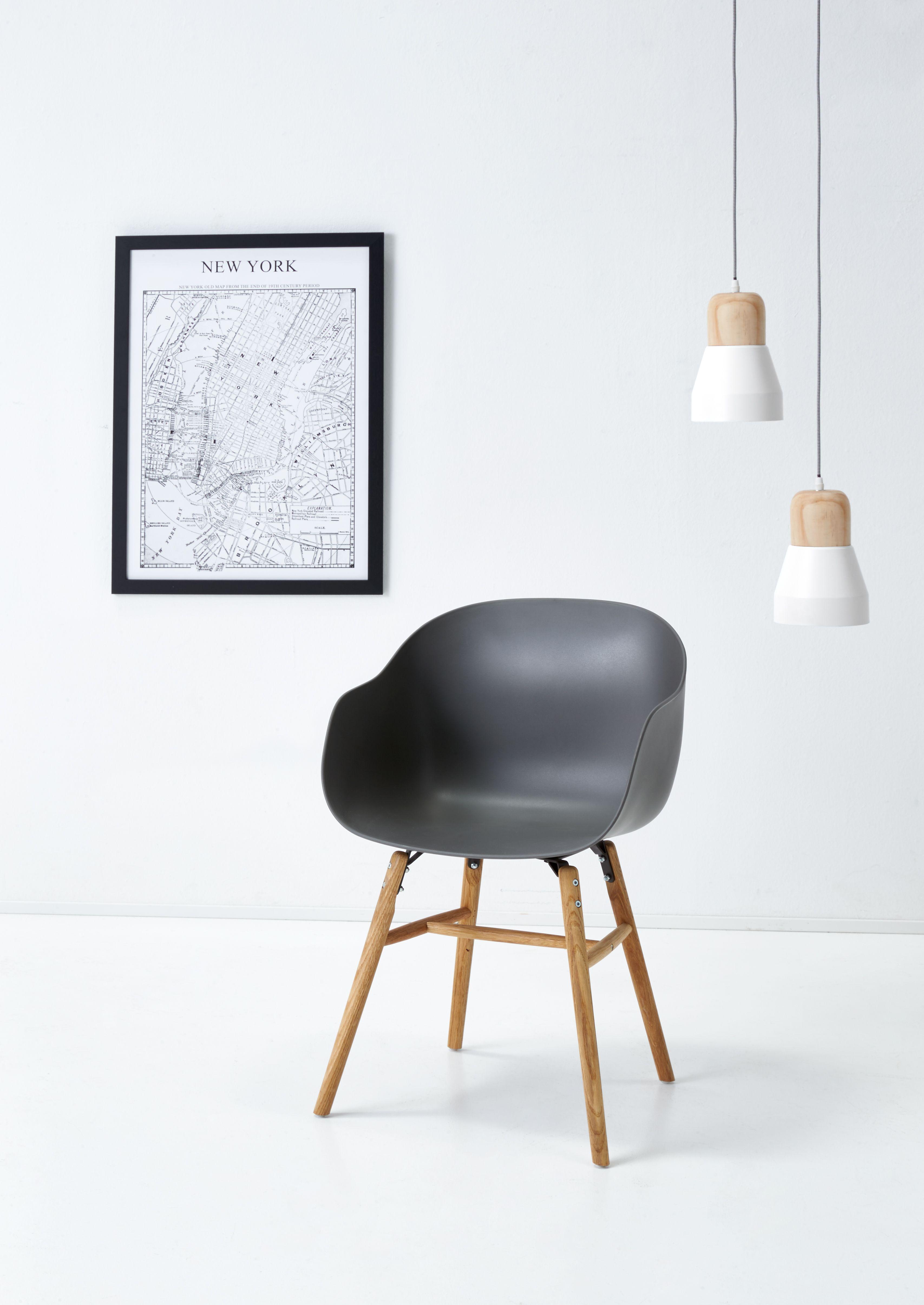 Shop moderne stoel SOHO met houten onderstel mét of zónder kuip in ...