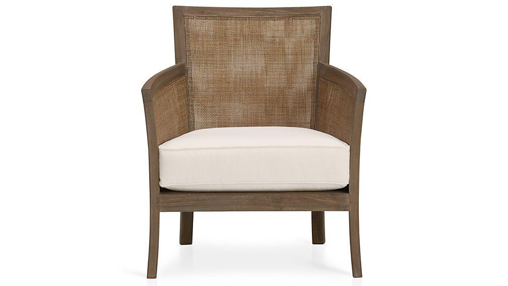 Blake Grey Wash Rattan Chair With Fabric Cushion Grey Wash Rattan