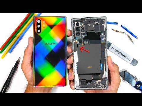 Samsung Note 10+ Teardown - TWO Wireless Chargers?