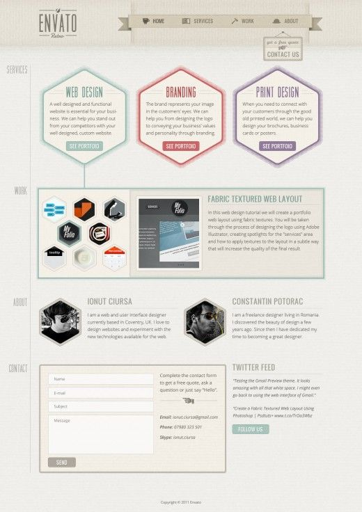 Here's a gorgeous web design template and start-to-finish tutorial.