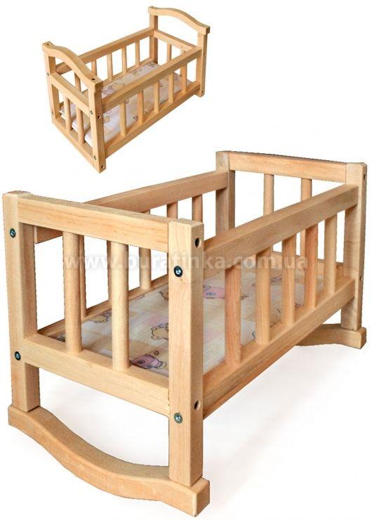 Кукольная кроватка-качалка, ВИННИ-ПУХ - 3327 (с ...