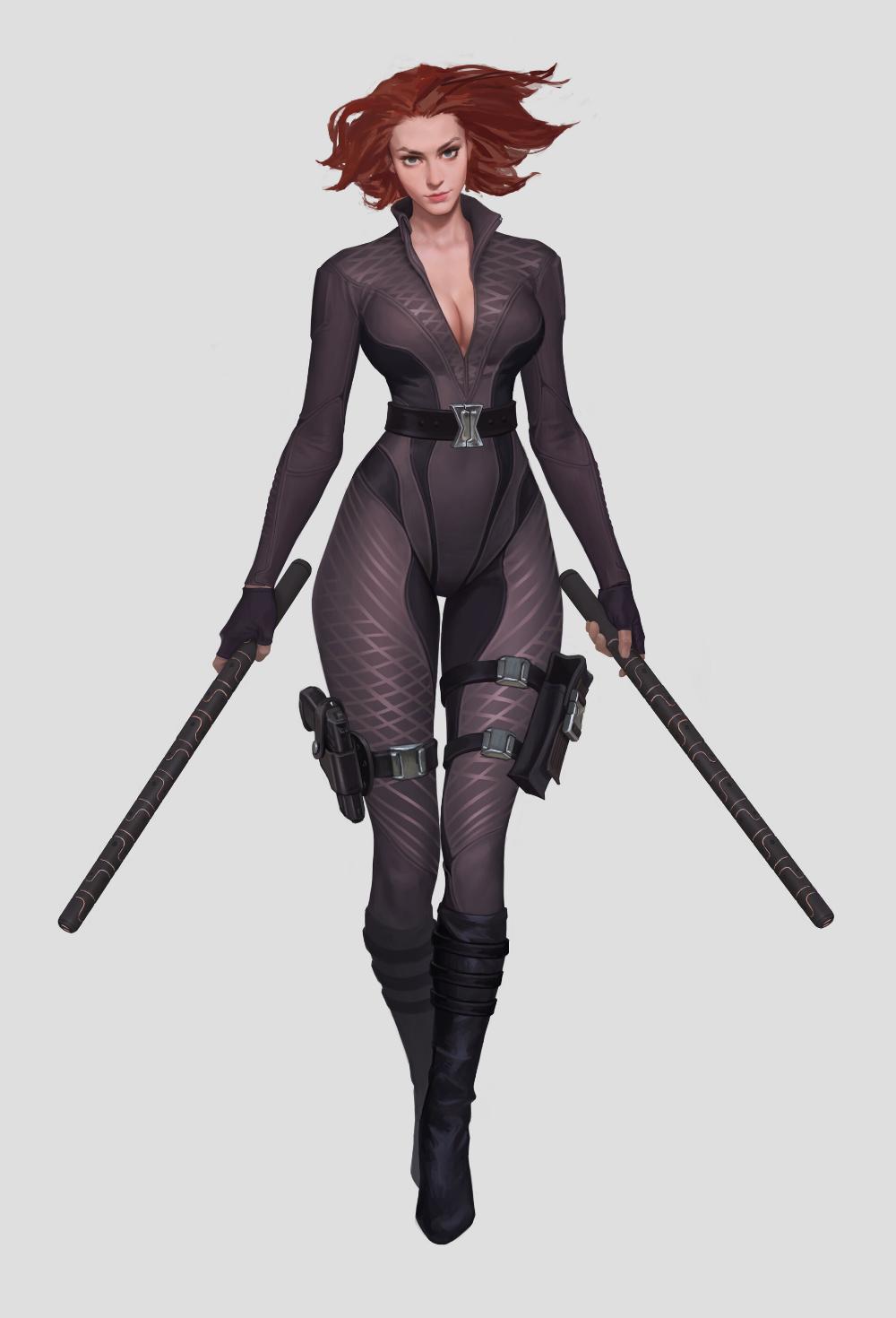Artstation Black Widow Zheng Huang Black Widow Marvel Marvel Girls Black Widow