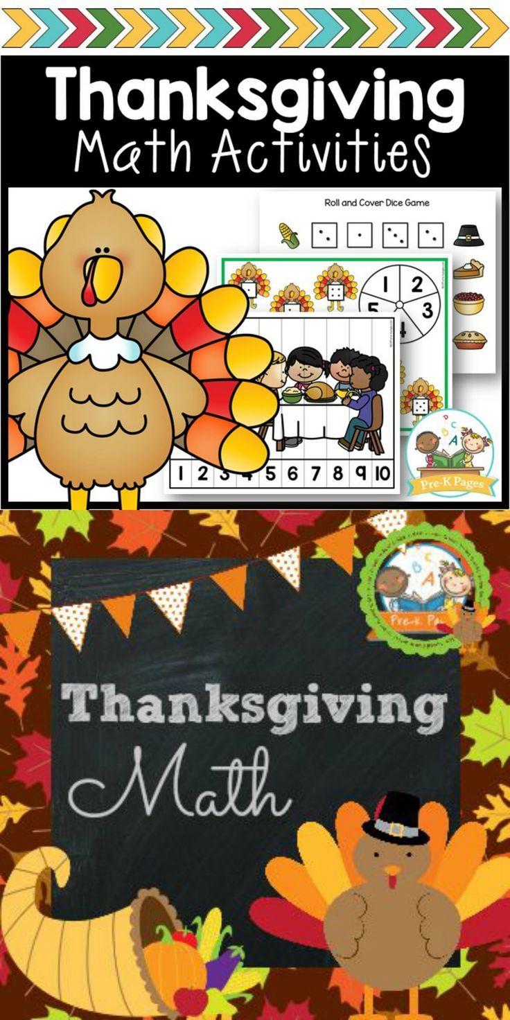 Thanksgiving Math Thanksgiving math, Math activities