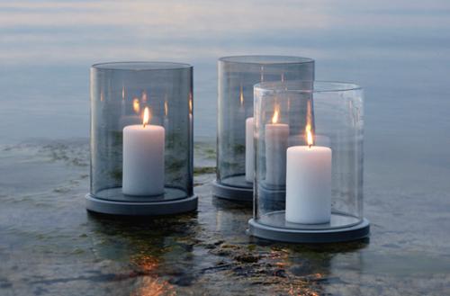 Raikas kynttilälyhty harmaalla tai kirkkaalla lasilla | 229€ | PuksipuuShop.fi | Klikkaa ja tilaa täältä  http://puksipuushop.fi/tuote/moja-kynttilalyhty-skargaarden/