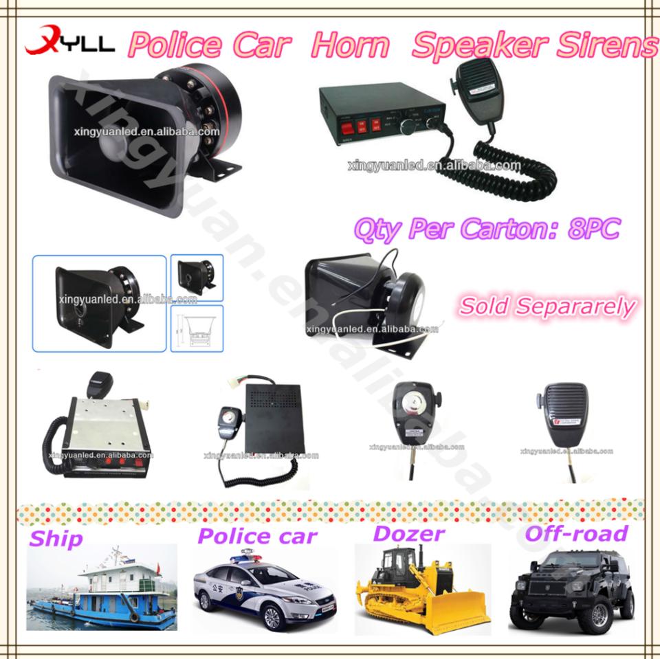 150w 200w 300w Police Car Horn And Speaker Sirens Police Cars Car Horn Fire Trucks
