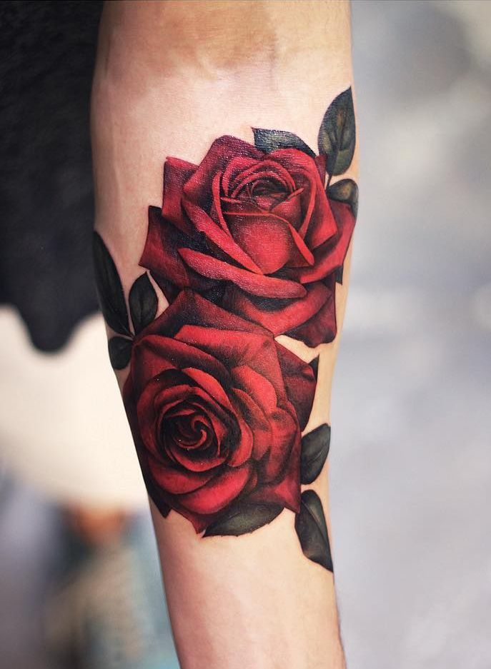 Hyper Realistic Rose Tattoo C Tattoo Artist Joyce Wang Grit N Glory Rose Tattoos For Men Rose Tattoos For Women Cool Forearm Tattoos