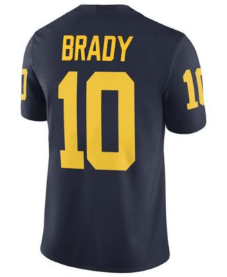 factory price 1ccee 8ea93 Nike Men Tom Brady Michigan Wolverines Player Game Jersey ...