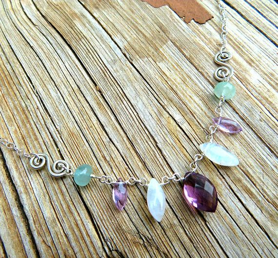 Check out this item in my Etsy shop https://www.etsy.com/listing/515376658/multi-gemstone-necklace-wkunzite