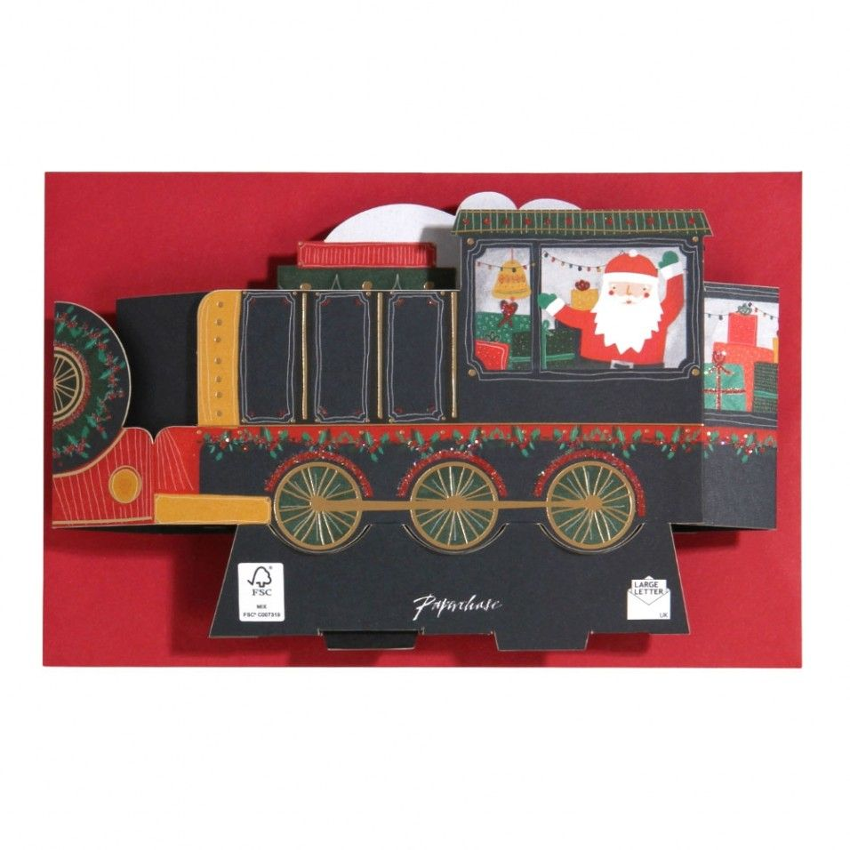 Train pop-up musical Christmas card - All Christmas Cards ...