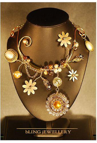 Crazy Daisy Art Necklace No 2 by janineantulov, via Flickr