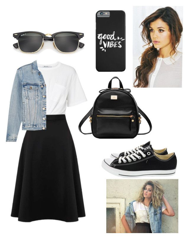 """Tori Kelly—Good Vibes"" by kaitydidwhat on Polyvore featuring T By Alexander Wang, Miss Selfridge, Frame, Converse and Ray-Ban"