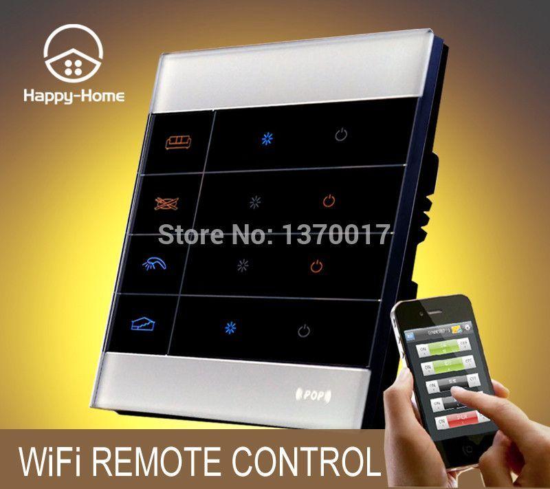 1Gang White Glass Gsm Zigbee Mobile Wireless Remote Control Light ...