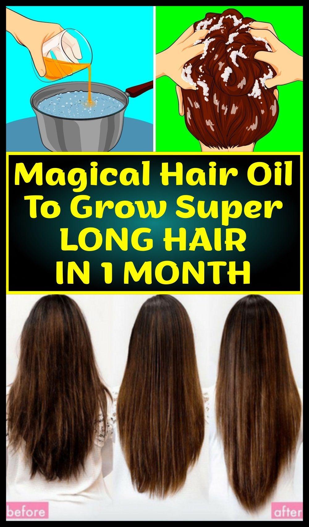 Magical Hair Oil To Grow Super Long Hair In 1 Month