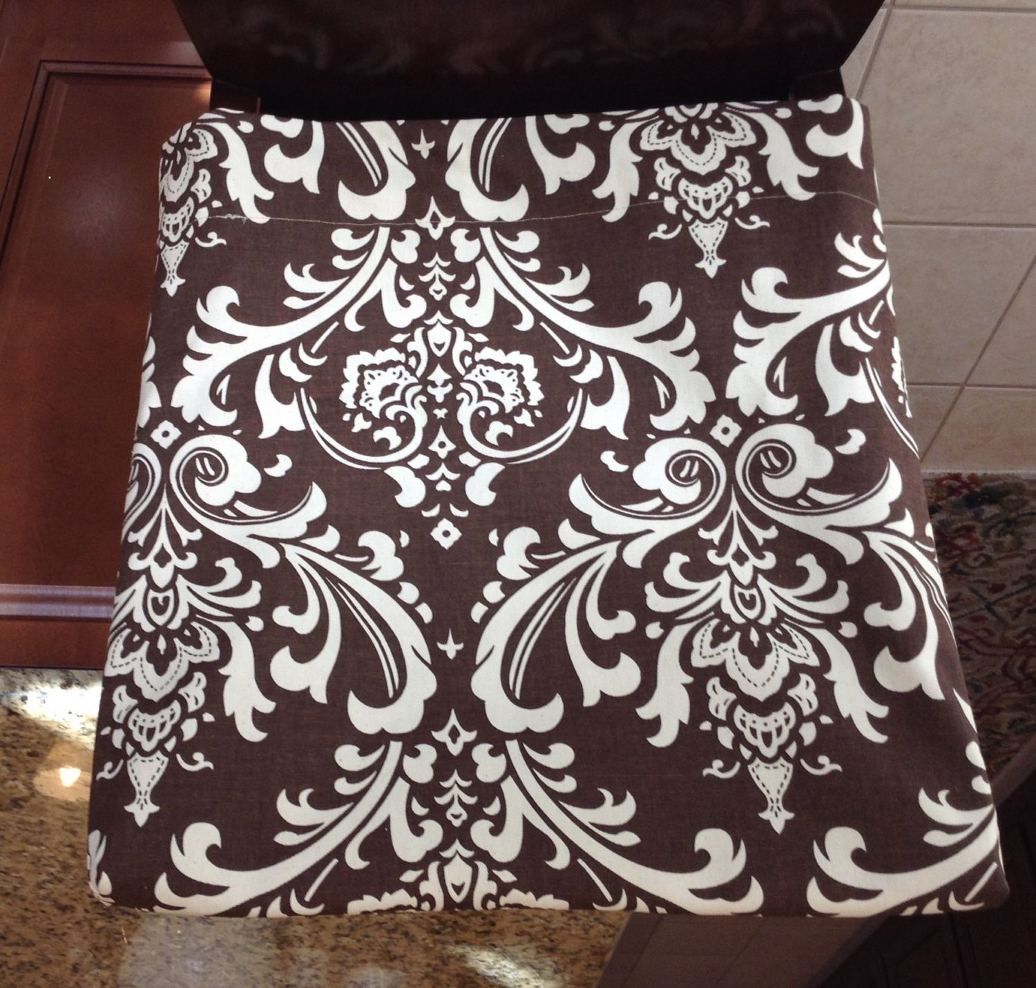 Kitchen Chair Slipcover, Chair Back Cover, Dining Room Chair Cover, Counter  Or Bar