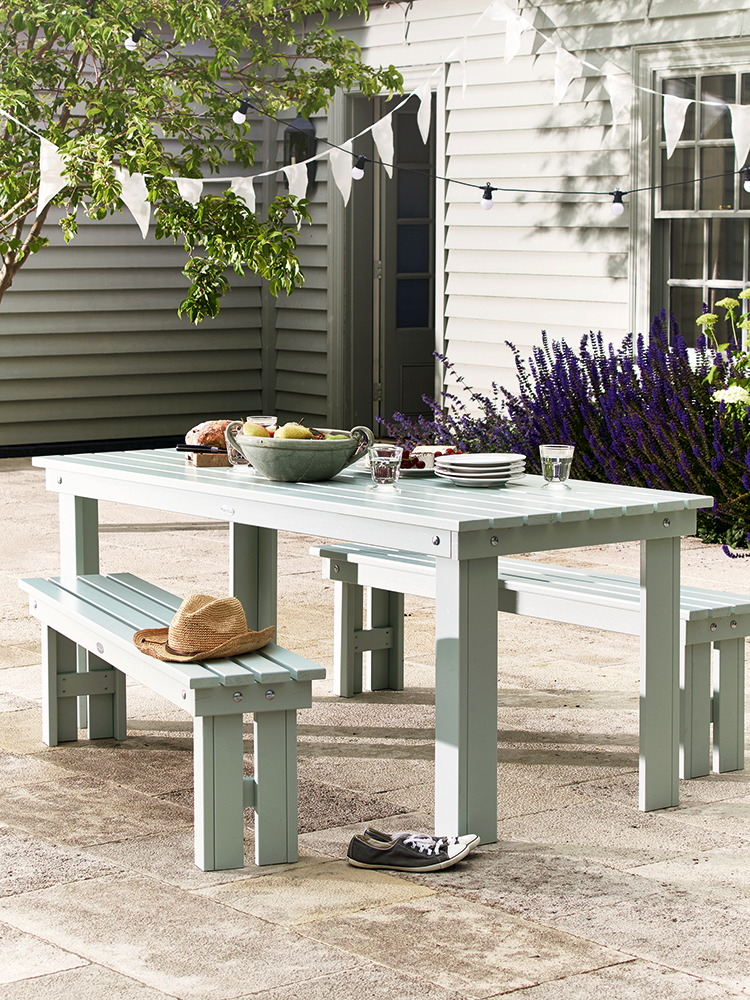 New Provence Outdoor Dining Set Soft Sage Furniture