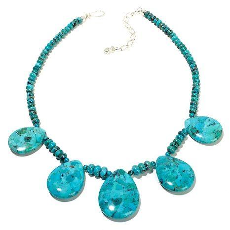 "Mongolian Mountain Turquoise 18"" Necklace | Jay King"