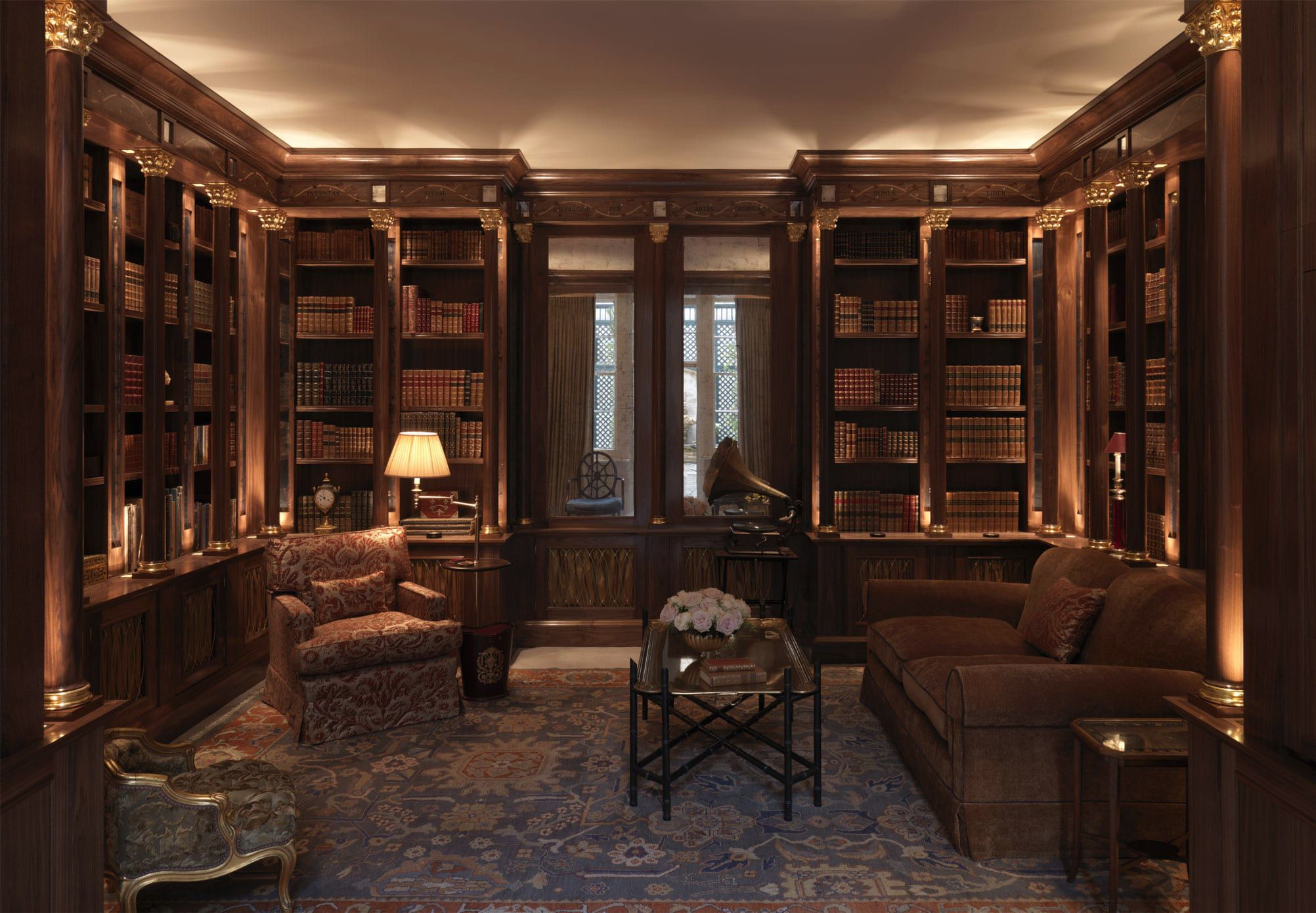 Tim Gosling Fitted Library In Sycamore - Luxury Bespoke