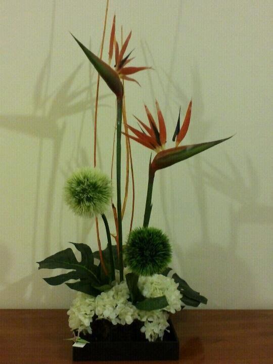 Arreglos florales artificiales dise o tipo ikebana for Plantas decorativas artificiales df