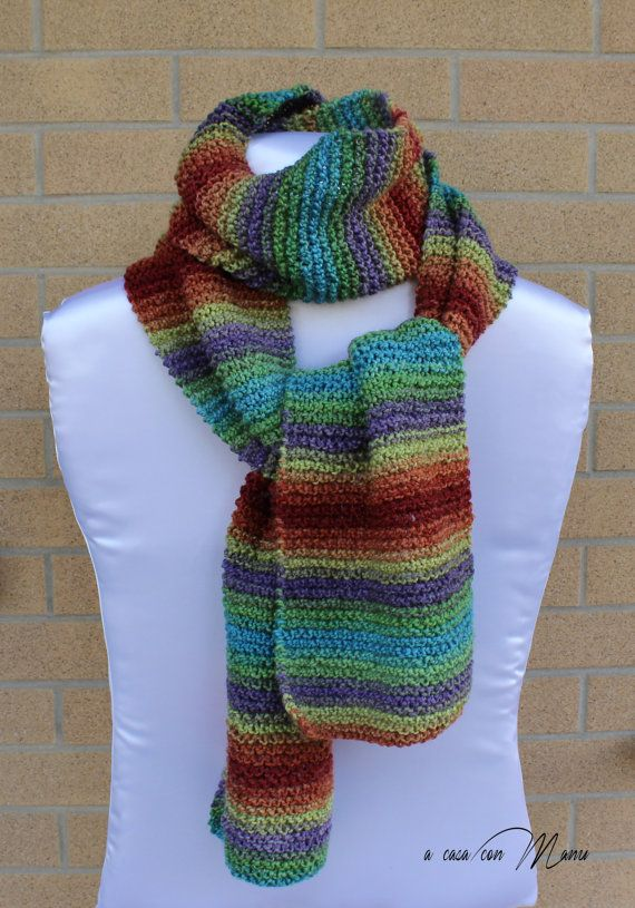 Sciarpa lunga knitted scarf sciarpa a maglia di Acasaconmanu