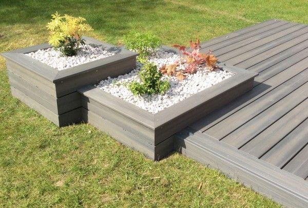 Terrasse en bois composite Fiberon Xtrem - GALAXY JARDIN Simple - terrasse bois avec bassin